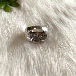 Jewelry - Silver and Rhinestone Ring